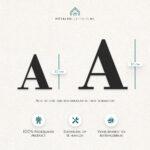 metalen letters los productafmeting