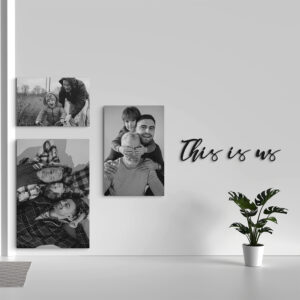 this is us - metalen letters