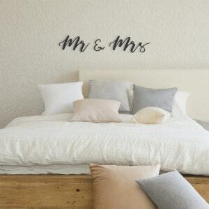 Slaapkamer metalen letters 'Mr & Mrs'
