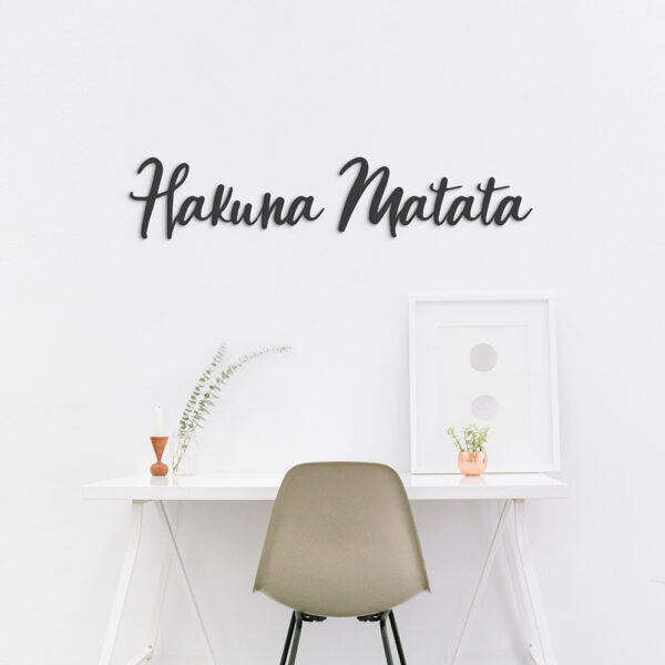 Hakuna Matata - metalen letters